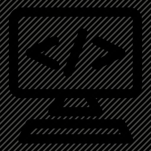 coding, development, language, seo, web icon