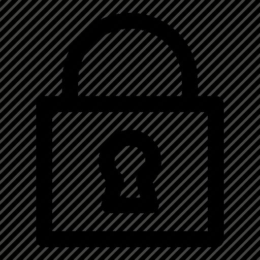 key, lock, padlock, password, secure icon