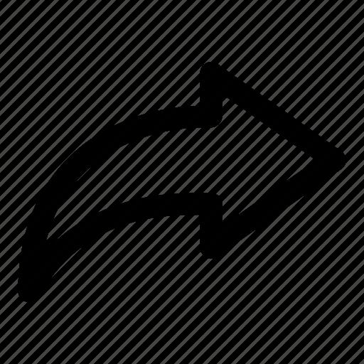 arrow, deliver, forward, reply, send icon