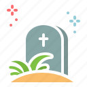 easter, graveyard, halloween, tombstone icon