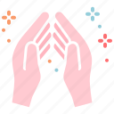 applause, clap, pray, prayer icon