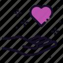 care, forgive, heart, love, medical, romance, valentine icon