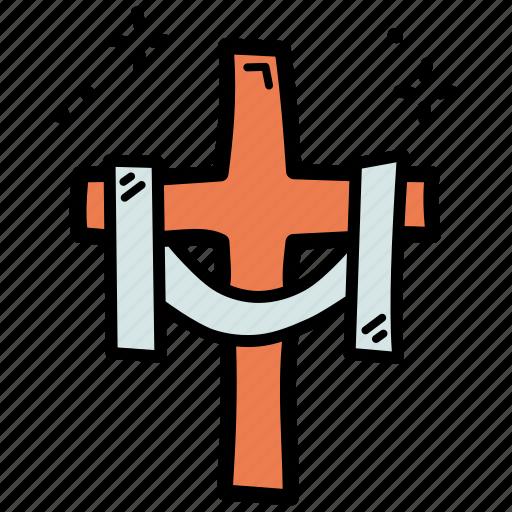 christian, church, cross, easter, grave, jesus, lent icon