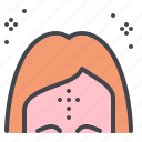 ash, forehead, lent, wednesday icon