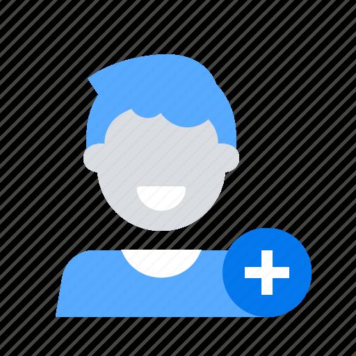 add, friend, new icon