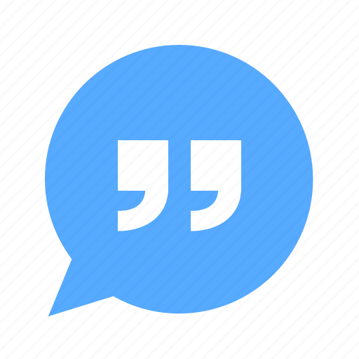 chat, message, quote icon