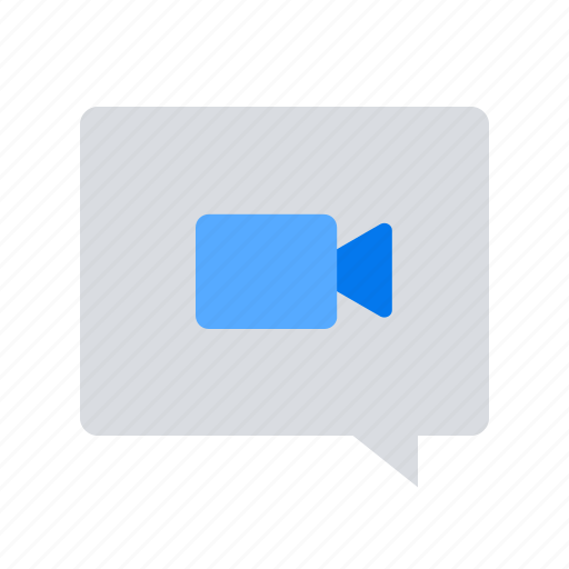 chat, message, video icon