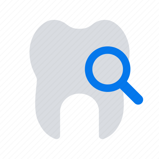 magnifier, search, tooth icon