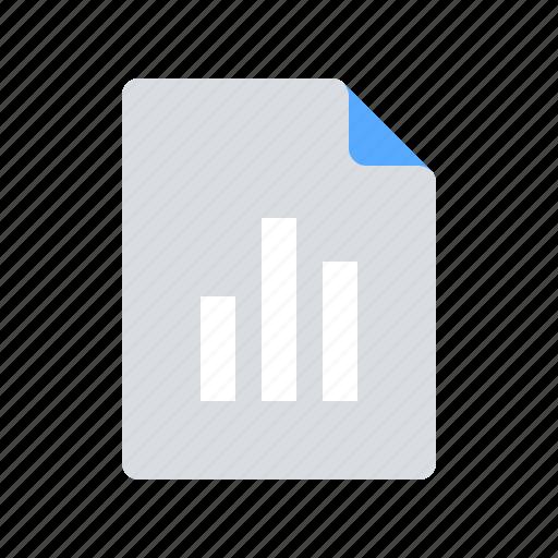 analytics, document, file, statistics icon