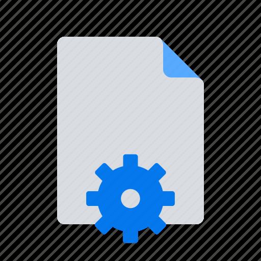 document, edit, settings icon