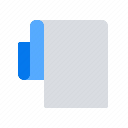 document, file, paper, roll icon