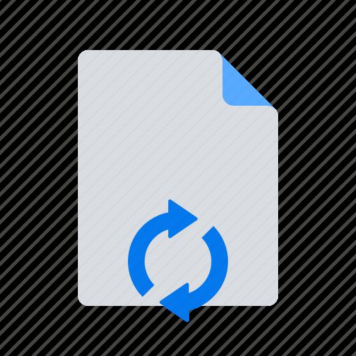 document, sync, syncronize icon