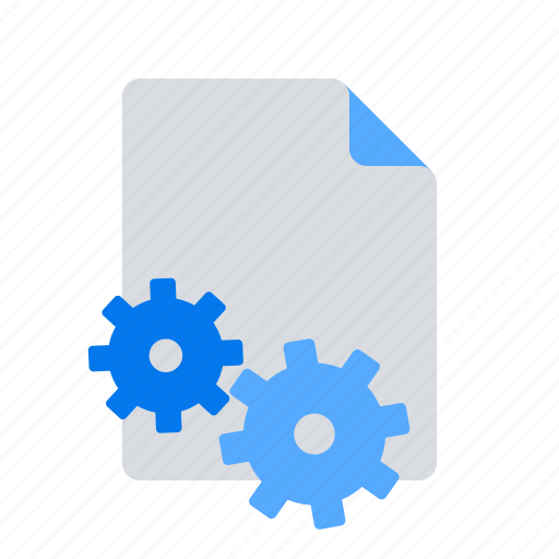 document, file, options, settings icon