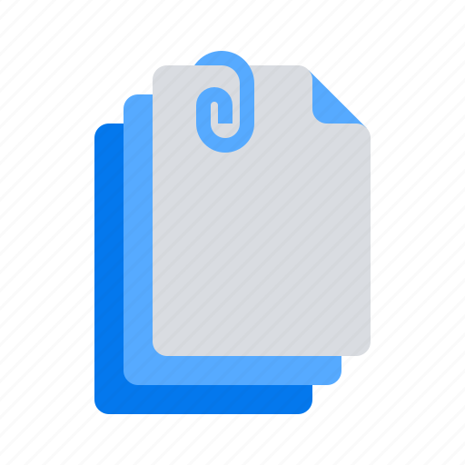 attachments, documents, files icon