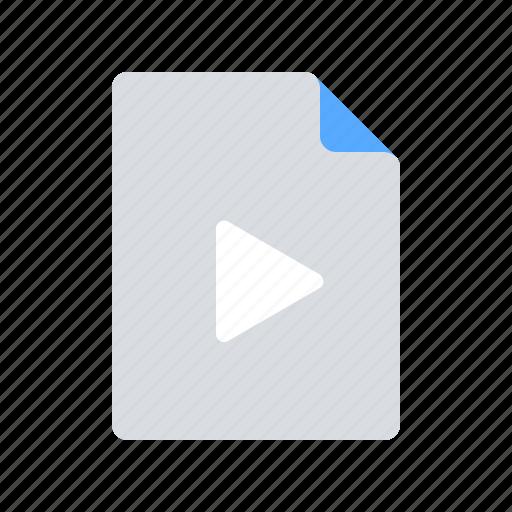 file, movie, video icon
