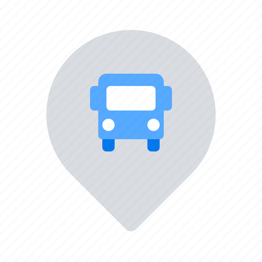 bus, location, pin, station icon