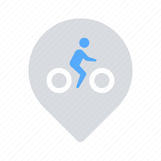 bicycle, bike, location, parking, renting icon