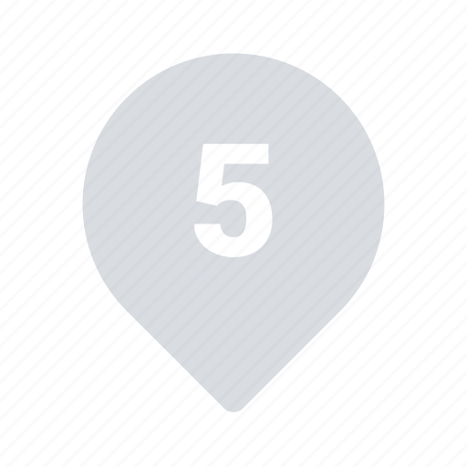 Five, marker, pin icon - Download on Iconfinder