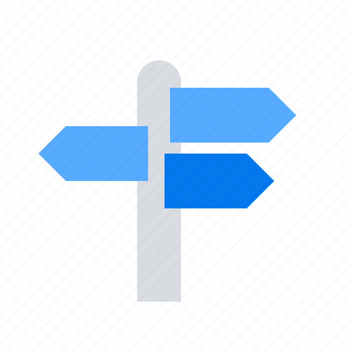 arrows, country, signpost, streets icon