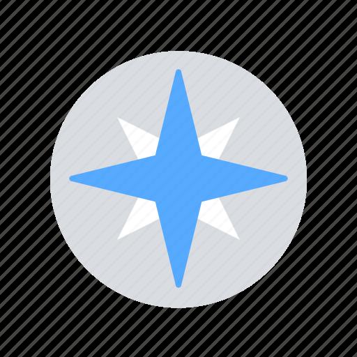 Compass, navigation, wind rose icon - Download on Iconfinder