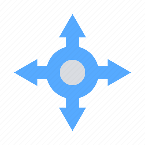 arrows, directions, navigation, solutions icon