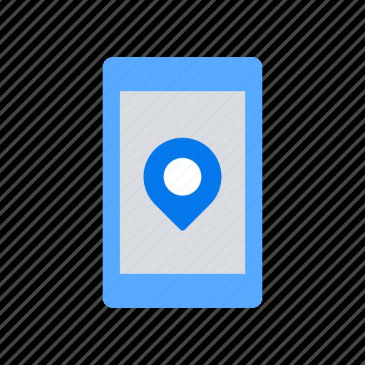 mobile, navigation, pin icon