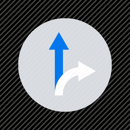 arrows, direction, path icon