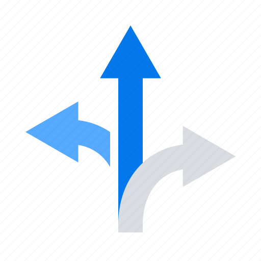arrows, directions, navigation icon