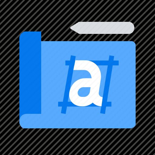 blueprint, prototype, sketch icon