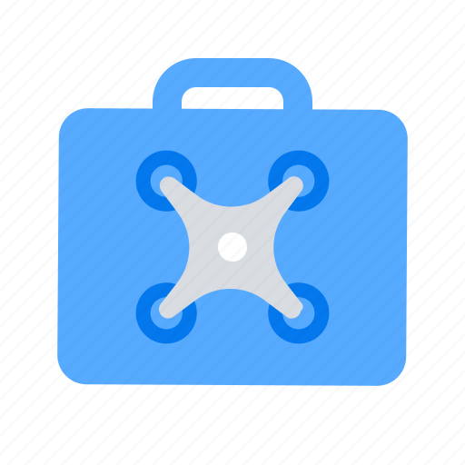 case, drone, suitcase icon