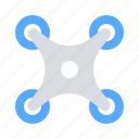airdrone, drone, quadcopter icon