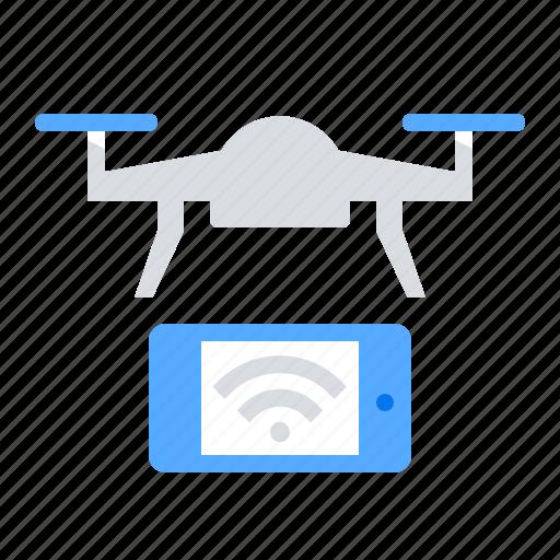 control, drone, mobile icon
