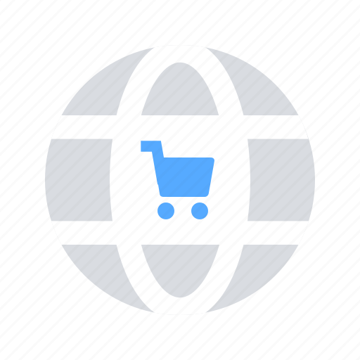 cart, international shop, online shopping icon