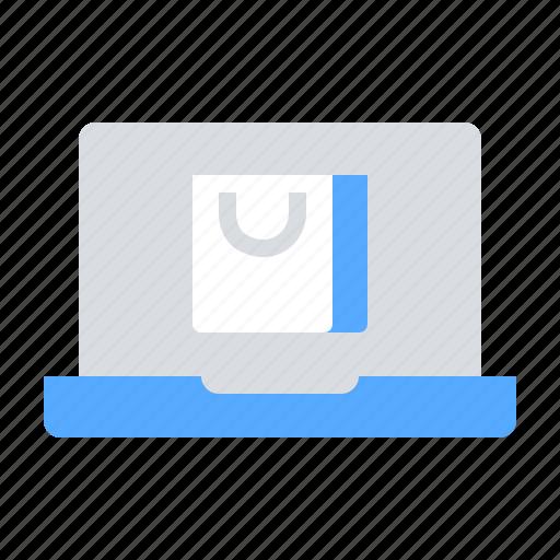 ecommerce, laptop, online shop icon