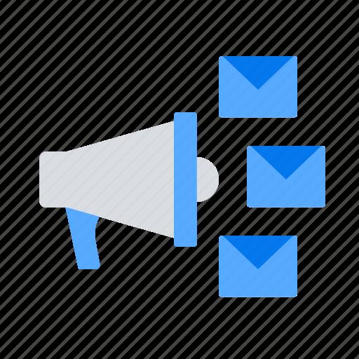 email marketing, megaphone, promotion icon