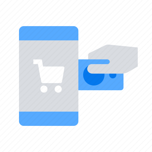 credit card, mobile, pay icon