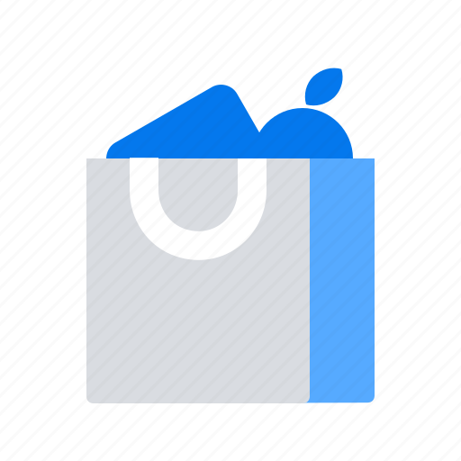 food, grocery, shopping bag icon