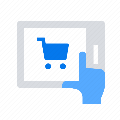 cart, online shopping, tablet icon