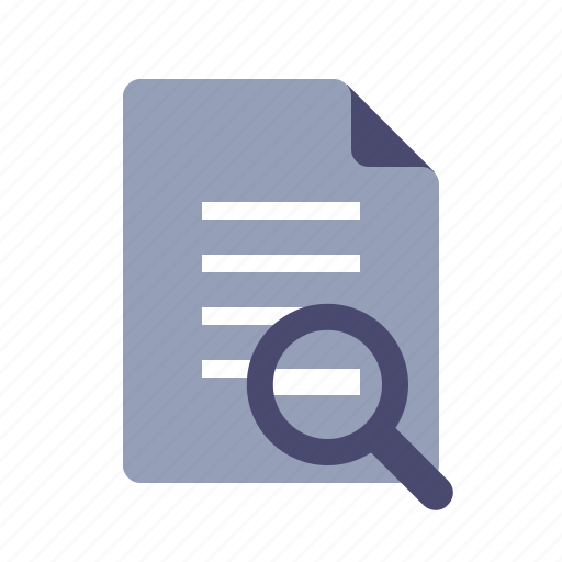 document, file, search, text icon