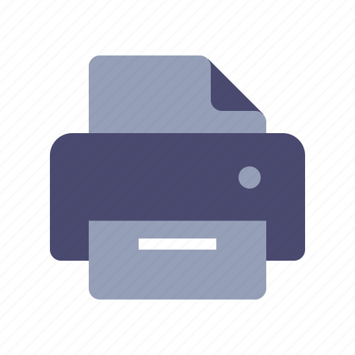 document, file, print, printer icon