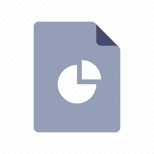 analytics, doc, file, pie chart icon