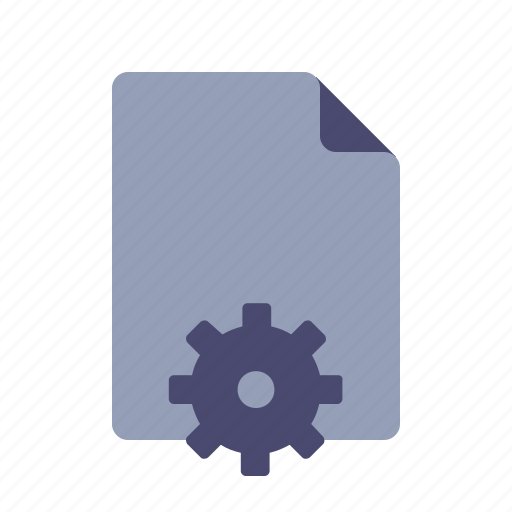 content management, document, file, settings icon