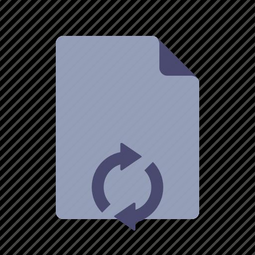 document, file, sync, syncronize icon