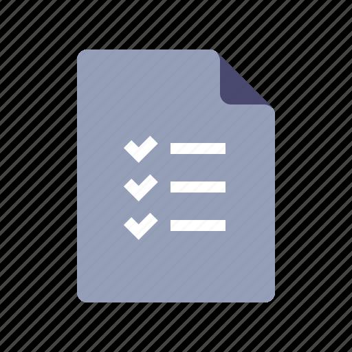 check list, document, tasks, togo icon