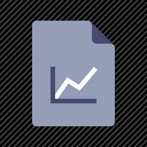 analytics, document, file, graph icon