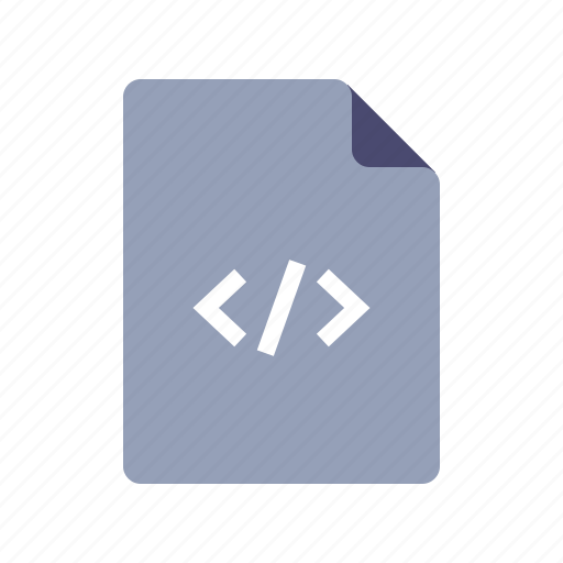 code, file, page, programming icon