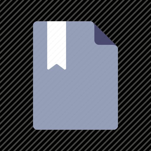 book, bookmark, file, page icon