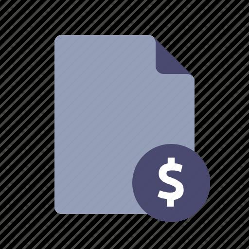 bills, dollar, income, invoice icon