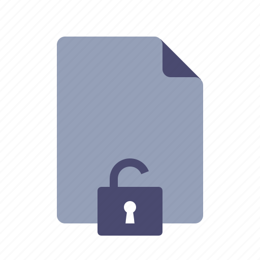 document, file, public, unlock icon