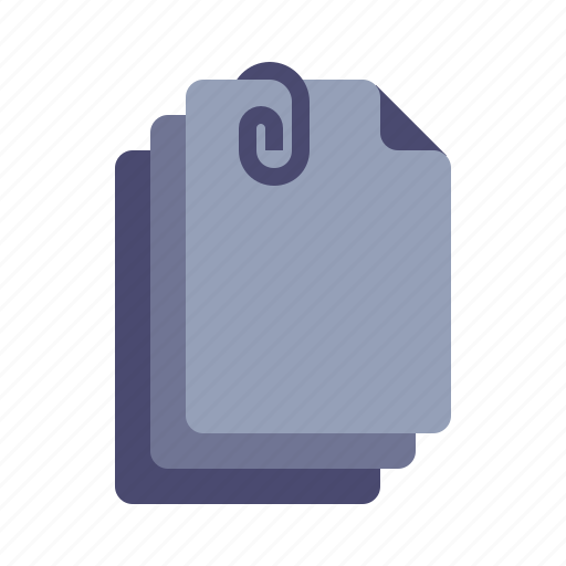 Attachments, clip, documents, files icon - Download on Iconfinder